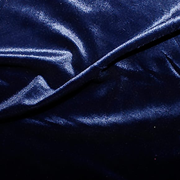Stretch Velvet Fabric Navy
