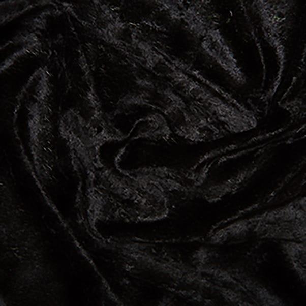Stretch Crushed Velour Fabric Black