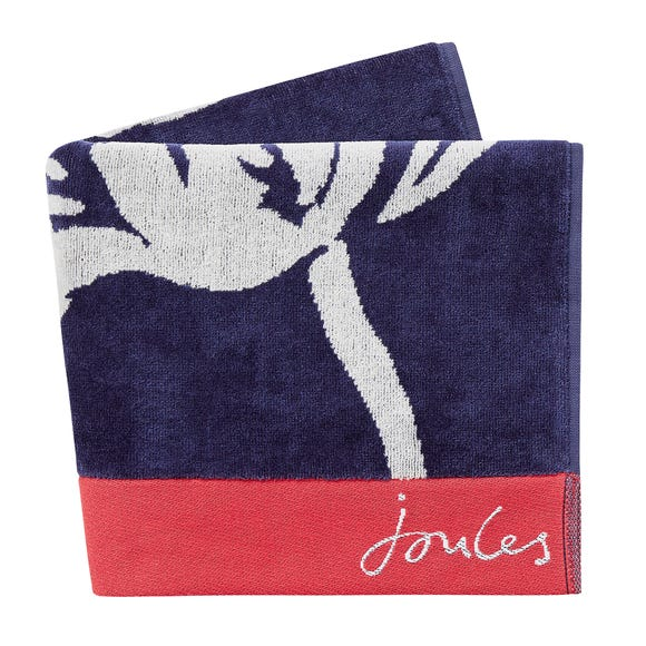 Joules Dawn Shadow Floral 100% Cotton Comet Towel  undefined