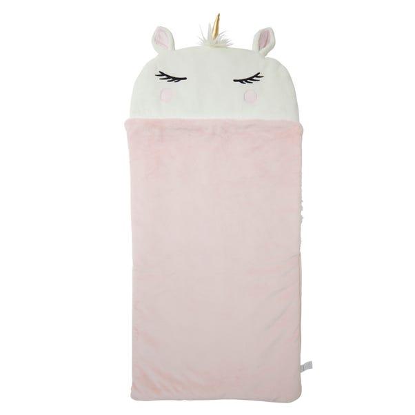 Unicorn Snuggle Blanket White