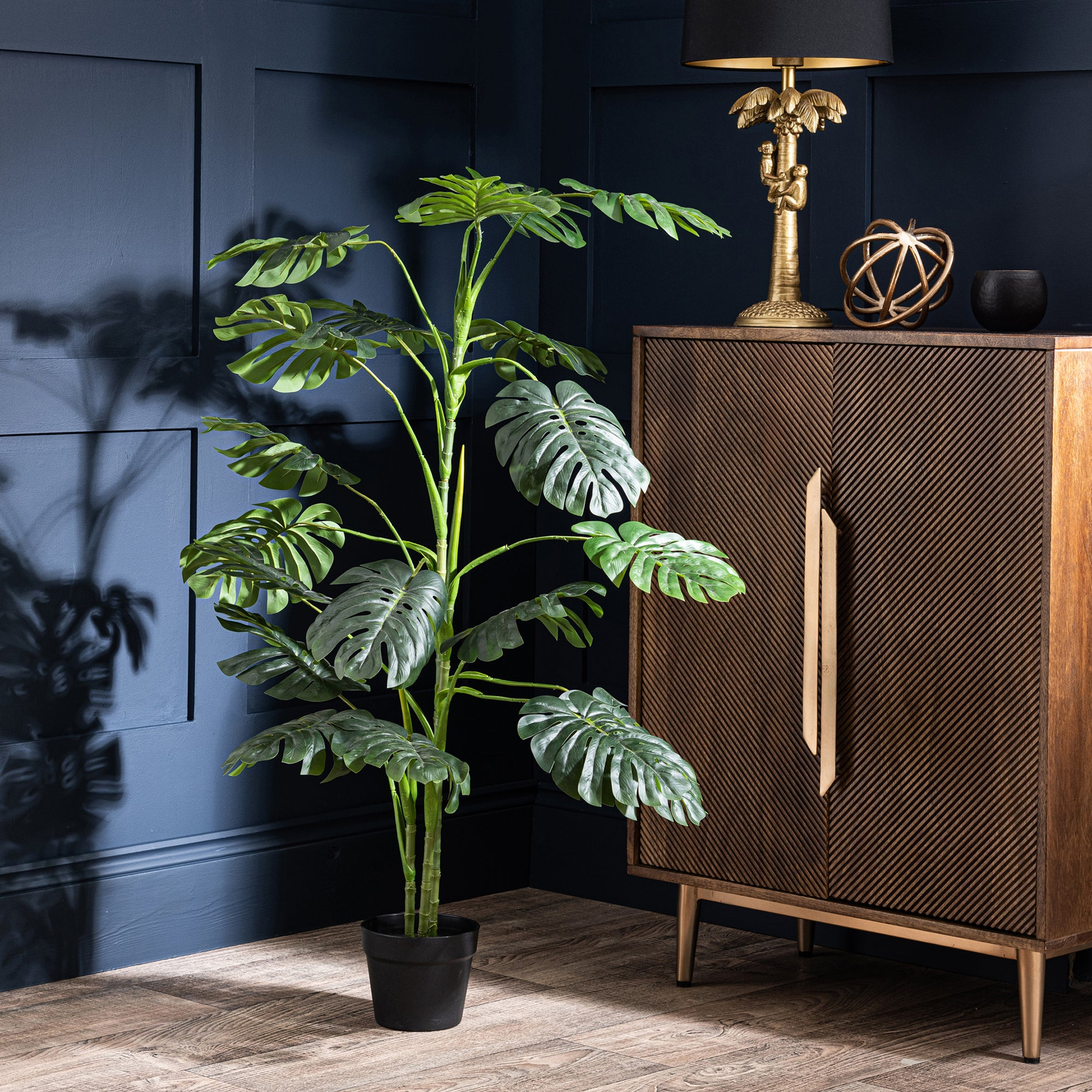 Photo of Artificial philodendron plant green