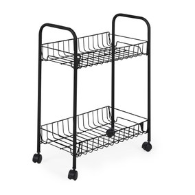 Matt Black 2 Tier Trolley