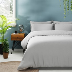 Jersey Silver Duvet Cover and Pillowcase Set