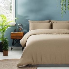 Jersey Natural Duvet Cover and Pillowcase Set