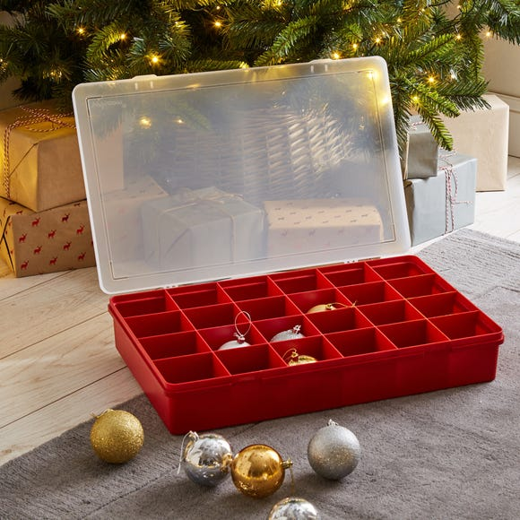 Red Bauble Storage Box Red