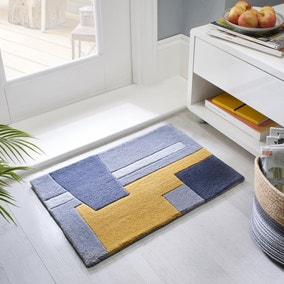 Elements Farg Abstract Ochre Doormat