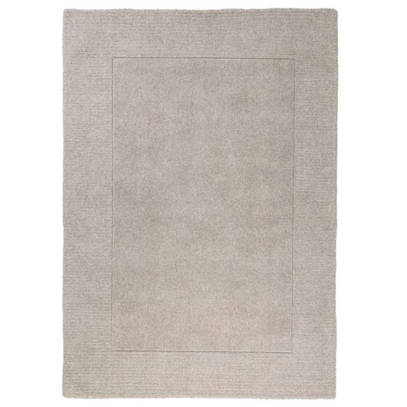 Boston Wool Border Rug Boston Wool Natural undefined