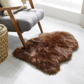 Luxury Single Pelt Faux Fur Rug