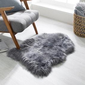 Luxury Single Pelt Faux Fur Rug