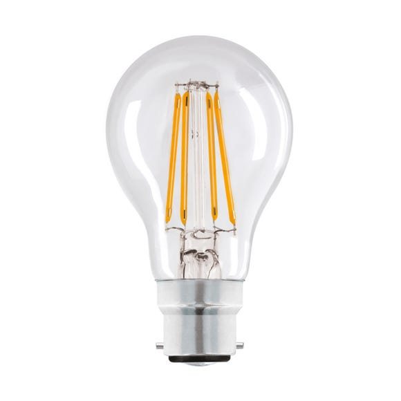 Dunelm 6 Watt BC LED Filament GLS bulb Clear