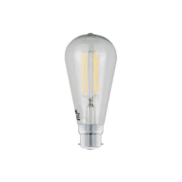 Status 6 Watt BC LED Filament ST64 Bulb Clear