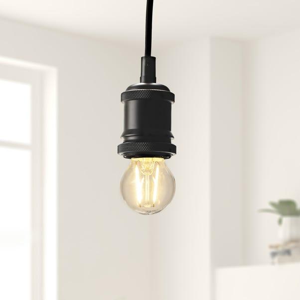 Status 2 Watt ES LED Filament Round Bulb White