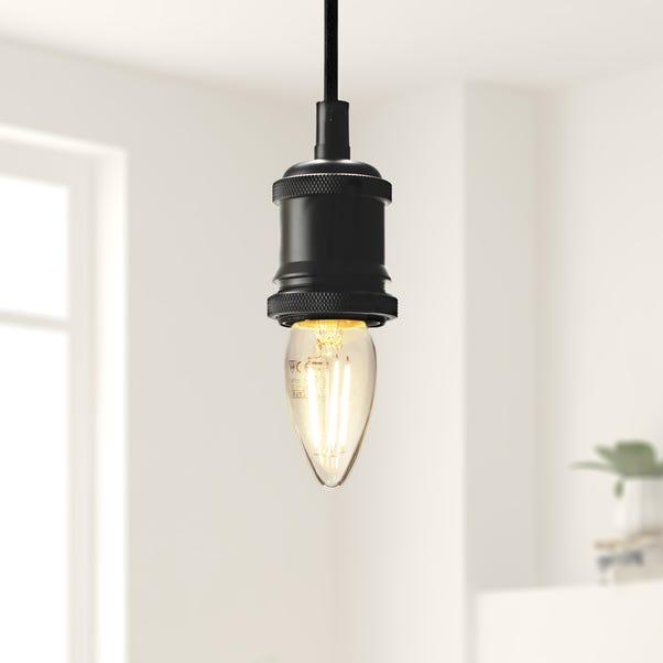 Dunelm 4 Watt SES LED Filament Candle Bulb 3 Pack Clear