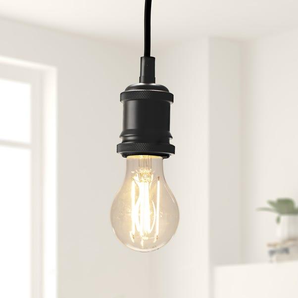 Dunelm 6 Watt BC LED Filament GLS Bulb 3 Pack Clear
