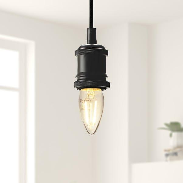 Status 2 Watt BC LED Filament Candle Bulb 3 Pack Clear