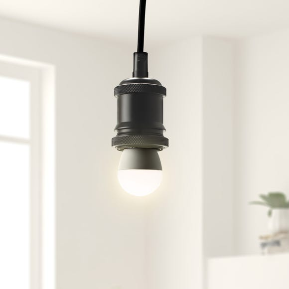 Dimmable 5.5 Watt SES Pearl LED Round Bulb 2 Pack White