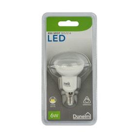 Dimmable 6 Watt SES Pearl R50 LED Spot Bulb