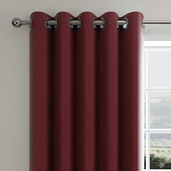 Cloudmont Chenille Merlot Thermal Eyelet Curtains  undefined