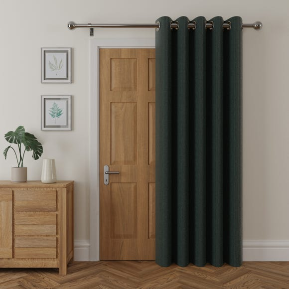 Cloudmont Chenille Bottle Green Thermal Eyelet Door Curtain  undefined