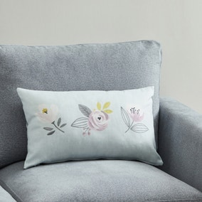 Blooms Trio of Flowers Cushion