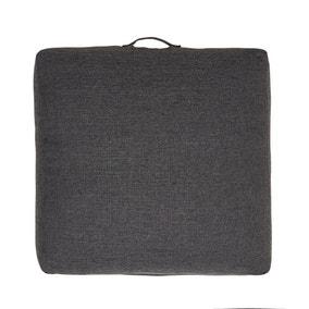 Slub Slate Floor Cushion