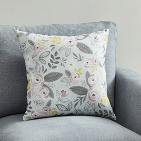 Blooms Blush and Ochre Floral Cushion