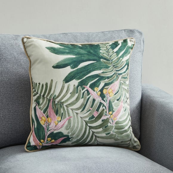 Jungle Leaf Cushion MultiColoured