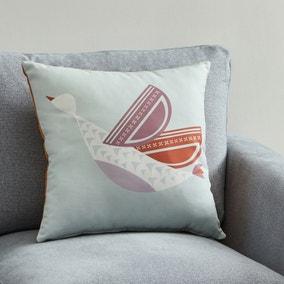 Modern Scandi Bird Cushion