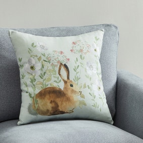 Meadow Floral Rabbit Cushion