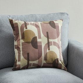Bauhaus Style Semi Circle Cushion