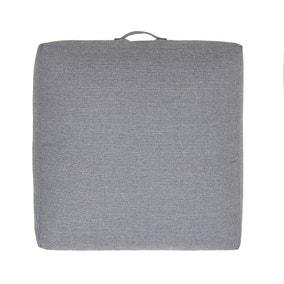 Slub Silver Floor Cushion