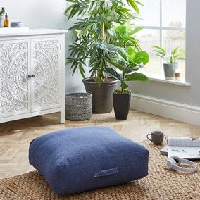 Slub Indigo Floor Cushion