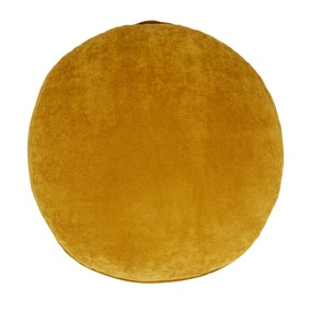 Matte Velour Ochre Floor Cushion