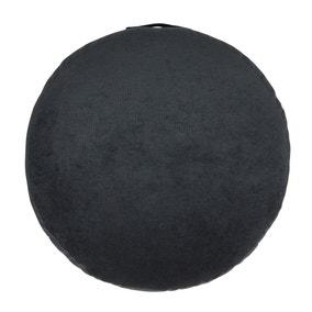 Matte Velour Charcoal Floor Cushion