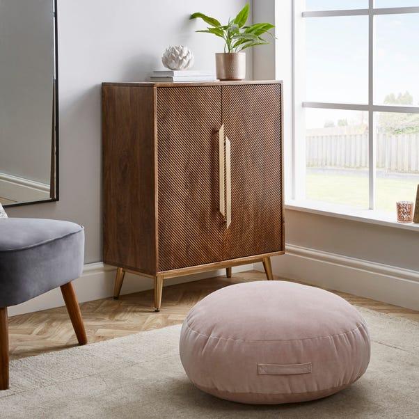 Matte Velour Blush Floor Cushion Blush