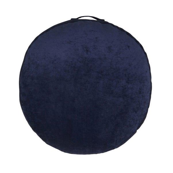 Matte Velour Indigo Floor Cushion Indigo (Blue)