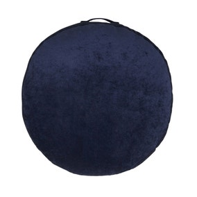 Matte Velour Indigo Floor Cushion