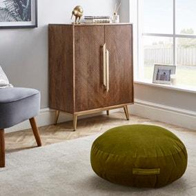Shiny Velour Moss Floor Cushion