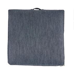 Casual Slub Denim Floor Cushion