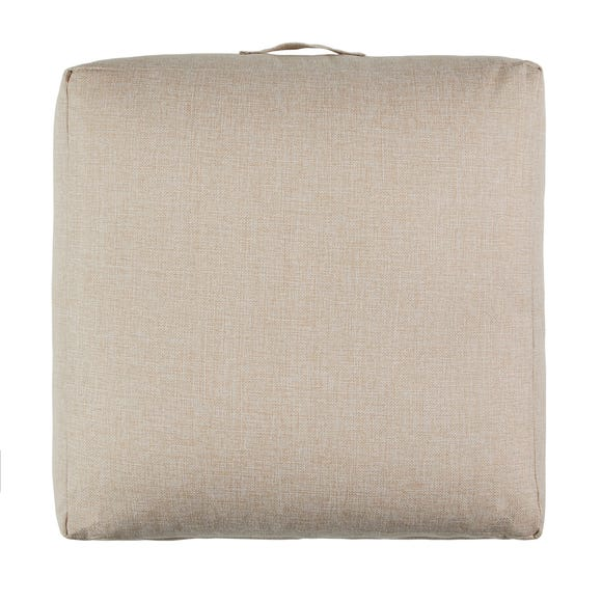 Linen Look Natural Slub Floor Cushion Natural
