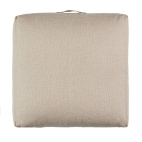 Linen Look Natural Slub Floor Cushion