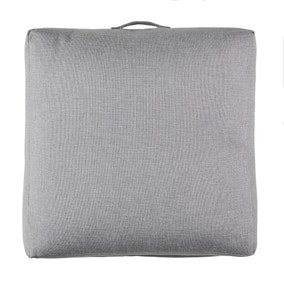 Linen Look Grey Slub Floor Cushion
