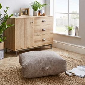 Heavy Chenille Natural Floor Cushion