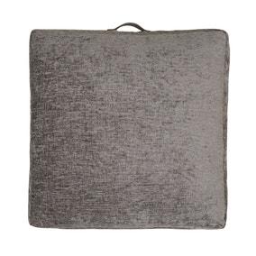 Heavy Chenille Silver Floor Cushion