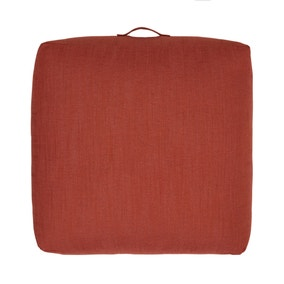 Global Terracotta Slub Floor Cushion