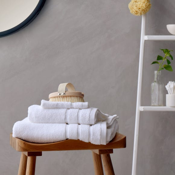 Luxurious 100% Cotton Antimicrobial White Towel  undefined