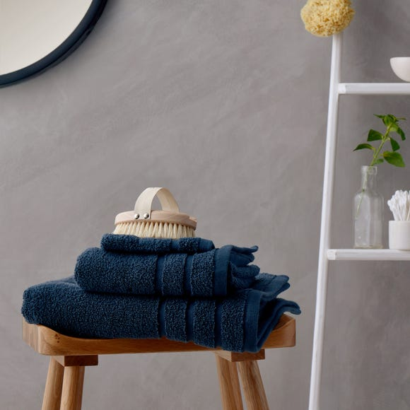 Luxurious 100% Cotton Antimicrobial Navy Towel  undefined