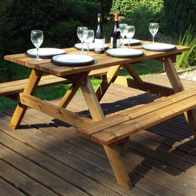 Charles Taylor 6 Seater Wooden Picnic Table