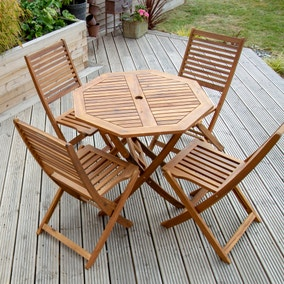 Octagonal 4 Seater Dining Set