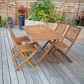 Acacia 4 Seater Rectangular Dining Set